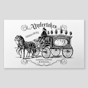 Undertaker Vintage Style Sticker (Rectangle)