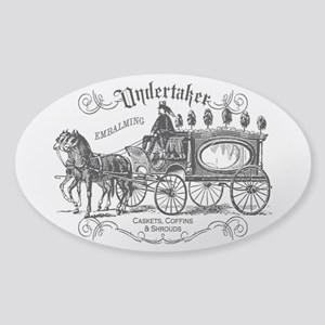 Undertaker Vintage Style Sticker (Oval)