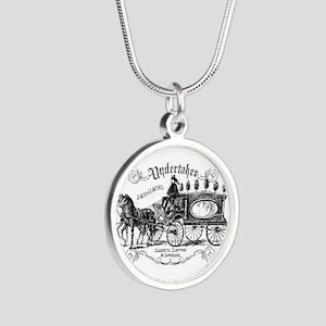 Undertaker Vintage Style Silver Round Necklace