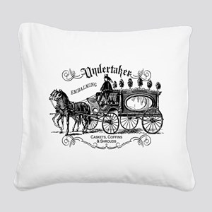 Undertaker Vintage Style Square Canvas Pillow