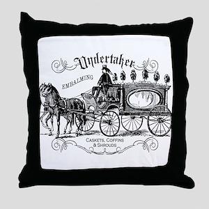 Undertaker Vintage Style Throw Pillow