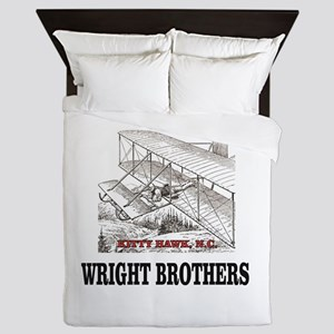 wright brothers kitty hawk Queen Duvet