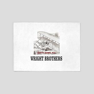 wright brothers kitty hawk 5'x7'Area Rug