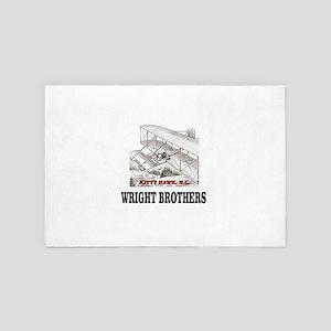 wright brothers kitty hawk 4' x 6' Rug