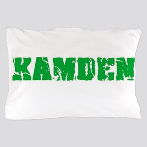 Kamden Name Weathered Green Design Pillow Case
