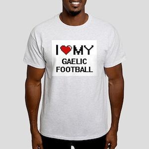 I Love My Gaelic Football Digital Retro De T-Shirt