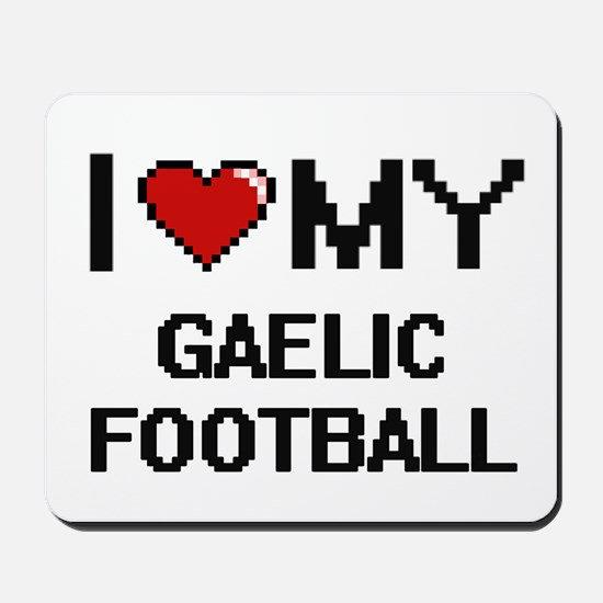 I Love My Gaelic Football Digital Retro Mousepad