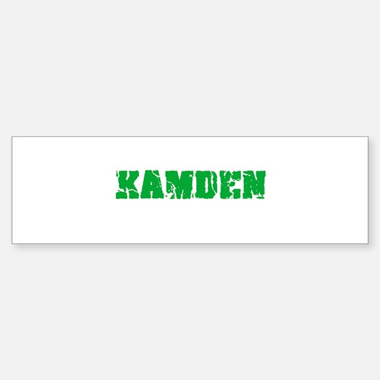 Kamden Name Weathered Green Design Bumper Bumper Bumper Sticker