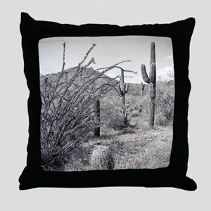Cowboy Garden Desert Throw Pillow