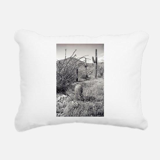 Cowboy Garden Desert Rectangular Canvas Pillow
