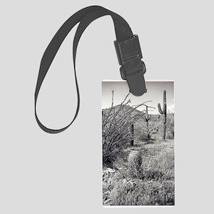 Cowboy Garden Desert Luggage Tag