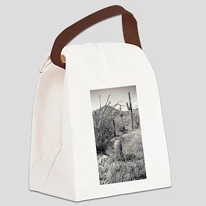 Cowboy Garden Desert Canvas Lunch Bag