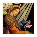 Madonna/Rottweiler Tile Coaster