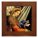 Madonna/Rottweiler Framed Tile