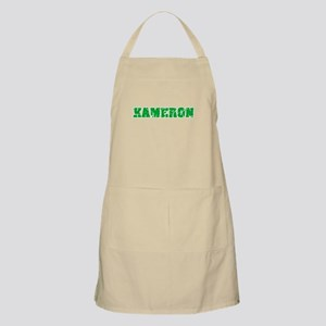 Kameron Name Weathered Green Design Light Apron