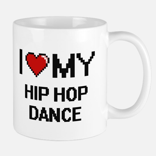I Love My Hip Hop Dance Digital Retro Design Mugs