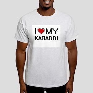 I Love My Kabaddi Digital Retro Design T-Shirt