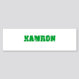 Kamron Name Weathered Green Design Bumper Sticker