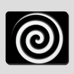 Black Spiral Zone Mousepad
