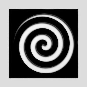 Black Spiral Zone Queen Duvet