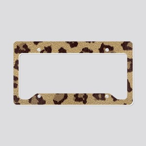 Leopard Print License Plate Holder