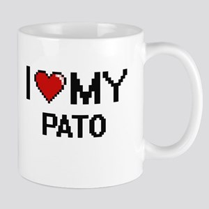 I Love My Pato Digital Retro Design Mugs