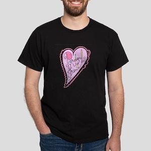 Pardon My French Script Heart Pink Dark T-Shirt
