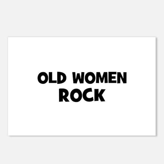Old Women Rock Postcards (Package of 8)