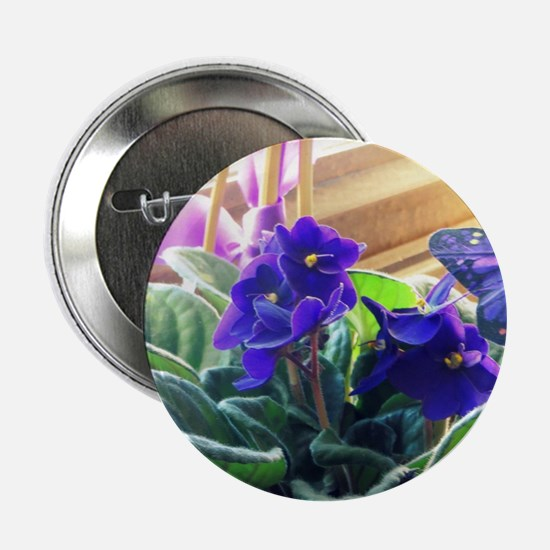 "Purple Violet Basket  2.25"" Button"