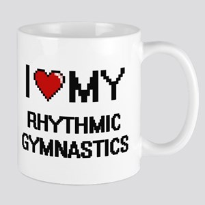 I Love My Rhythmic Gymnastics Digital Retro D Mugs