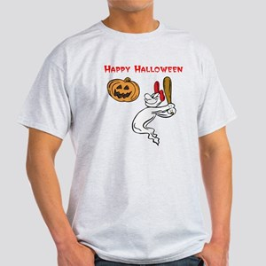 Ghostly Batter Halloween Light T-Shirt