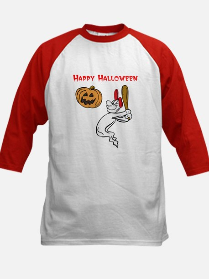 Ghostly Batter Kids Baseball Jersey