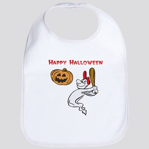 Ghostly Batter Bib