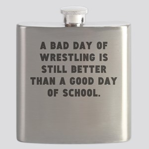 A Bad Day Of Wrestling Flask