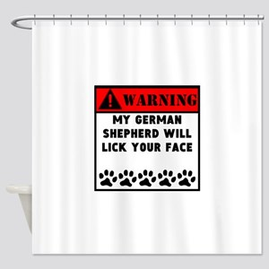German Shepherd Will Lick Your Face Shower Curtain