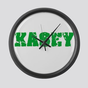 Kasey Name Weathered Green Design Large Wall Clock
