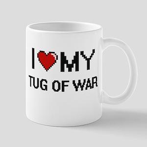 I Love My Tug Of War Digital Retro Design Mugs