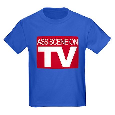 Ass Scene On TV Kids Dark T-Shirt