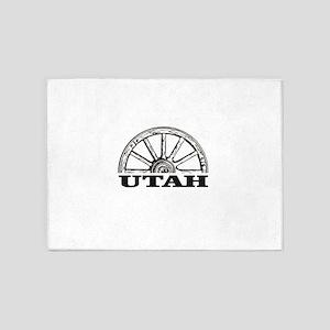 Utah mormon trail 5'x7'Area Rug
