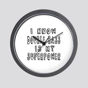 Double bass is my superpower Wall Clock