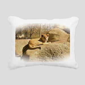 lil lion Rectangular Canvas Pillow