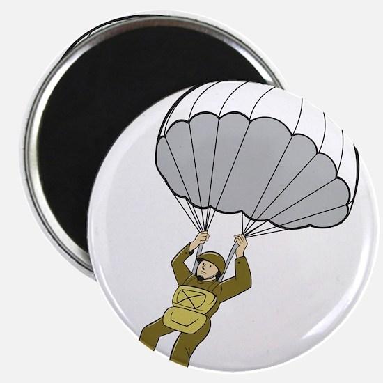 American Paratrooper Parachute Cartoon Magnets