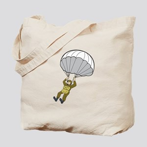 American Paratrooper Parachute Cartoon Tote Bag