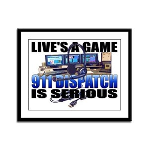Live's A Game Framed Panel Print