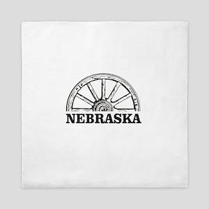 hub of Nebraska Queen Duvet