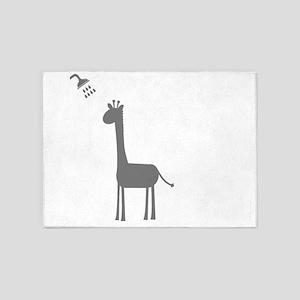 Giraffe Shower 5'x7'Area Rug