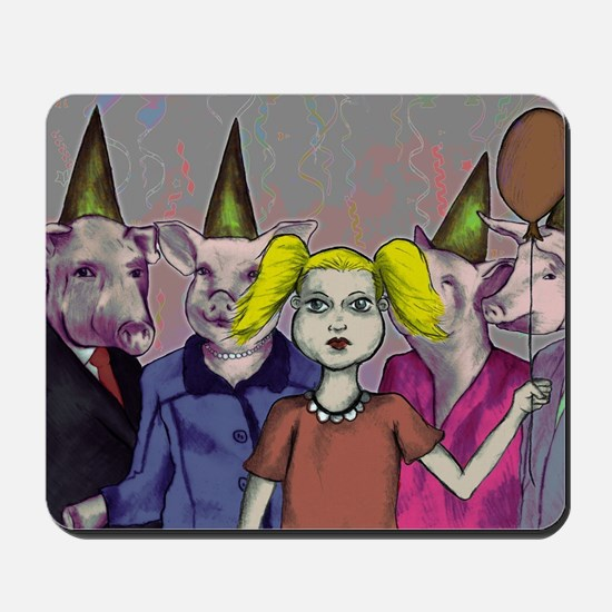 Pigs and kids Mousepad