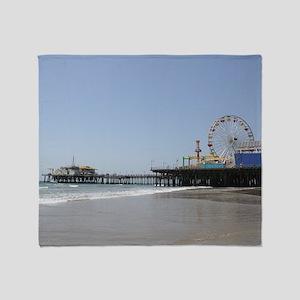 Santa Monica Pier Throw Blanket