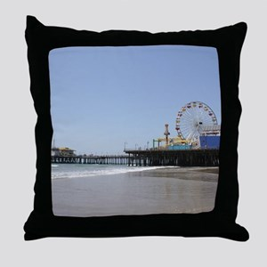 Santa Monica Pier Throw Pillow