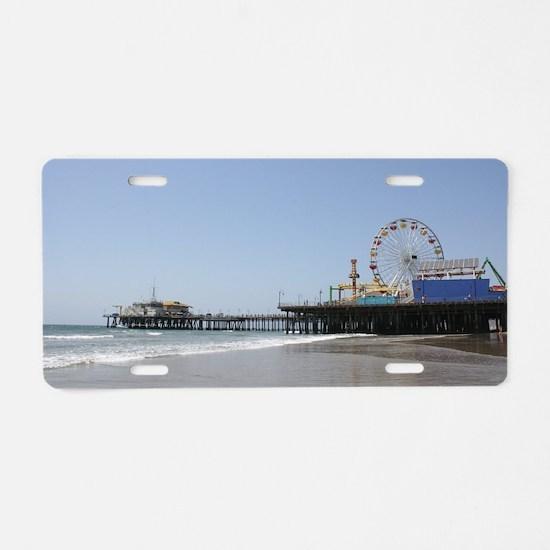 Santa Monica Pier Aluminum License Plate